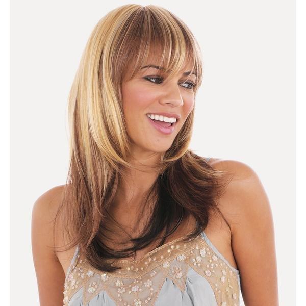 Покраска волос в два цвета на средние волосы светлые