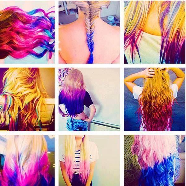 Как сделать цветные пряди пастелью