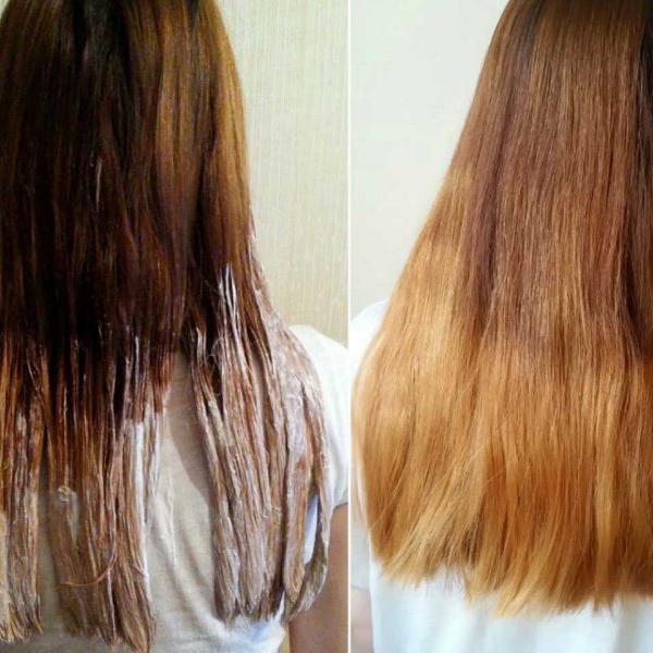 Чем и как осветлить кончики волос в