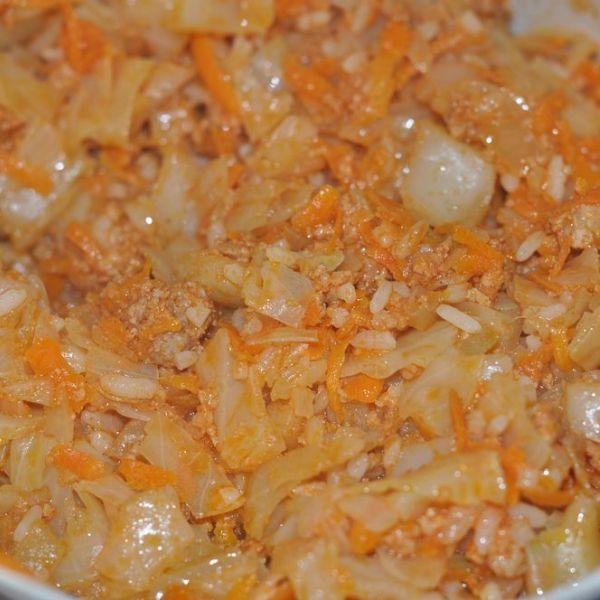 Ленивые голубцы в кастрюле с рисом рецепт пошагово в кастрюле с рисом