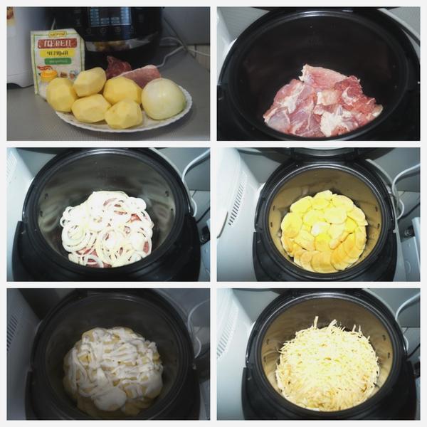 Рецепт свинины в мультиварке пошагово